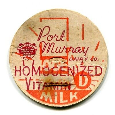 Port Murray Dairy Mansfield Township NJ Milk Bottle Cap Warren County New Jersey