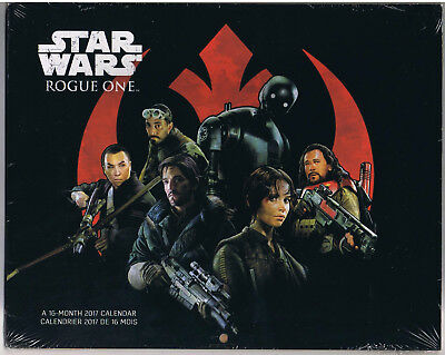 Disney Star Wars Rogue One 2017 - 16 Months Wall Calendar New In Package