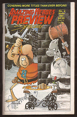 Signed Aragones GROO Sim CEREBUS related Amazing Heroes Preview Special #4 1987
