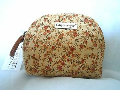 Longaberger Vintage Floral  ~ Coin Purse ~ NEW w/tag