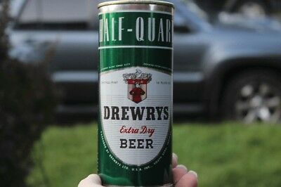 Drewrys Flat Top Beer Can.