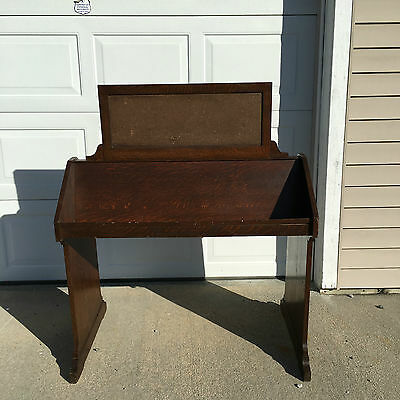 Rare Gaylord Bros Library Book/Newspaper/Magazine Sloped Double Sided Stand