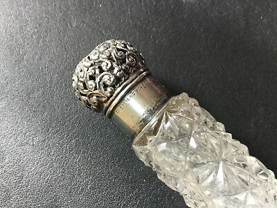 Antique Unger Bros Sterling Victorian Chatelaine Perfume Scent Bottle