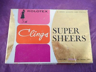 Vintage KOLOTEX CLINGS SUPER SHEERS STOCKINGS! as new with box!