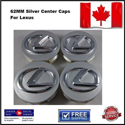 LEXUS WHEEL CENTER CAPS GRAPHITE Gray 62MM EMBLEM 42603-30590 SET OF 4pcs