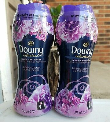 2 Downy Unstopables Lavendar Serenity In-Wash Scent Booster 9.7 oz