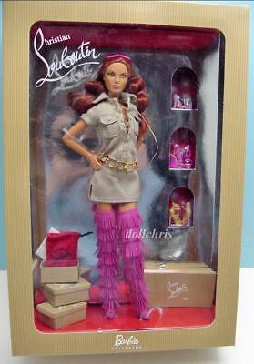 Christian Louboutin Barbie Doll Dolly Forever 2009 Model Muse NRFB w/Boots Shoes