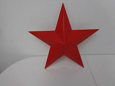 """Texaco Oil Compay Original Red Plastic Star 16"""" Hung On Each Side Of Texaco Sign"""