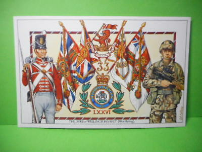 Military Post Card THE DUKE OF WELLINGTON'S REGIMENT, WEST RIDING!