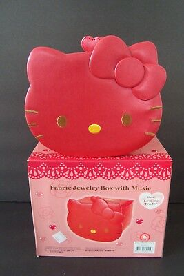 Hello Kitty Artificial Leather Jewelry Music Box