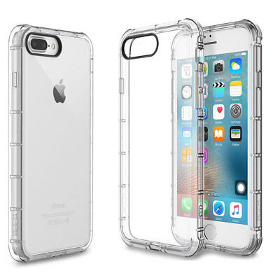 Clear Hybrid Slim Soft Shockproof TPU Bumper Cover For Apple iPhone 8 Plus Case
