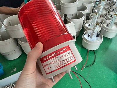 LTE-1101AC 220V 110V 10W LED Red  rotary Light Industrial Signal Warning Lamp