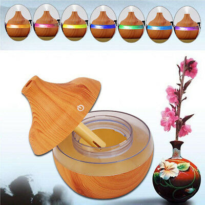 300ml Wood Grain Aromatherapy Essential Oil Diffuser USB Humidifier Car Home