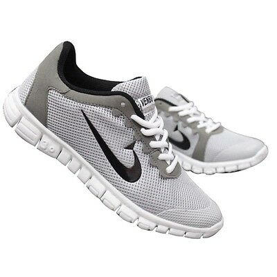 Running trainers Men's walking shock absorbing sports shoes US size 11 Gray
