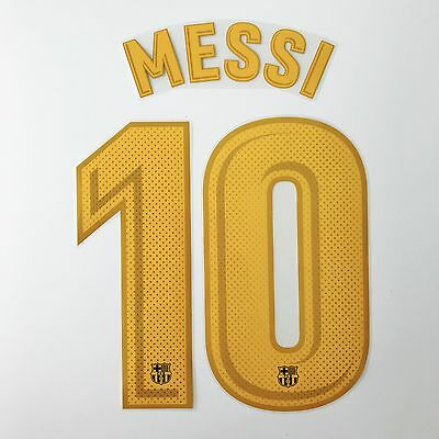 Barcelona 17-18 home Messi name set Avery dennison player issue