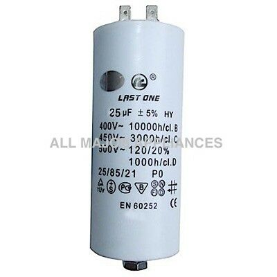 25uF Run Capacitor Last One Plastic 400/450V will suit 240V motor pump spa dryer