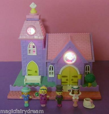 Polly Pocket Mini ♥ Kirche mit Licht ♥ Wedding Chapel ♥ 100% Komplett ♥ 1994 ♥