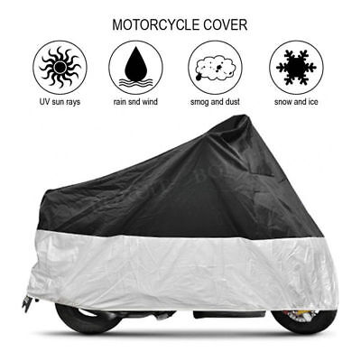 Waterproof Rain Cover Protection Motorcycle Motorbike Scooter Bike Silver Black