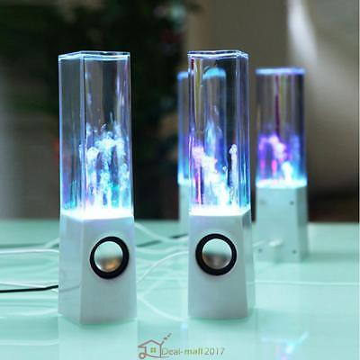 Stereo Music Led Dancing Water Fountain Light Speakers For Ipad Iphone Pc White