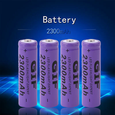 4 Pcs 3.7V 2300mAh 14500 AA Li-ion Rechargeable Battery For LED Flashlight USA