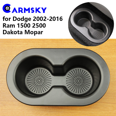 NEW Dodge Ram 2002-2016 1500 2500 3500 Rear Seat Cup Holder Dual Drink Cupholder