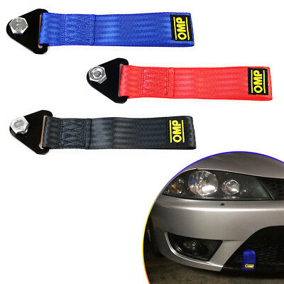 Nylon Red High Strength Racing Tow Strap Set for Front Rear Bumper Towing Hook