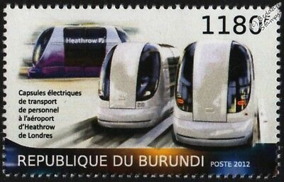Heathrow Airport ULTra PODCAR Personal Transport/Rapid Transit Pod Vehicle Stamp