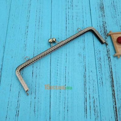 25cm Embossing Square Metal Purse Frame Handle for Clutch Bag Accessories New