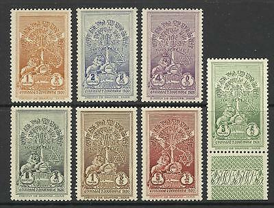 ETHIOPIA 1930 CORONATION 2nd ISSUE SET MINT
