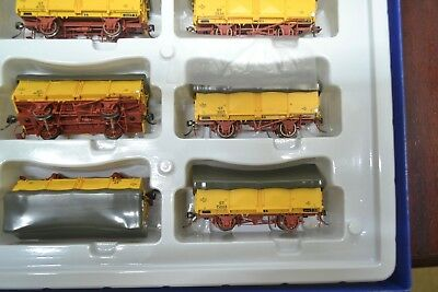 (56)*auscision  Gy Open Wagon Vr Hansa Yellow With  Green Tarp ****mint Unused