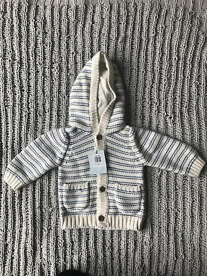John Lewis Boys (0-3M) Knitted Cardigan With Hood