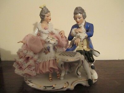 Dresden man and woman figurine