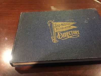 Ship Masters Association Directory 1953, hardcover Great Lakes Region