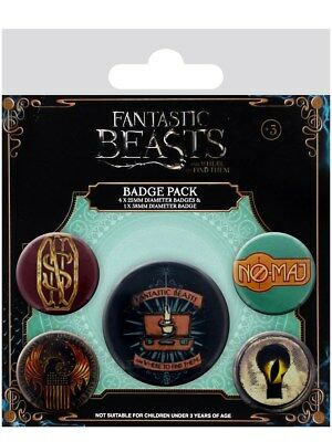 Fantastic Beasts And Where To Find Them Badge Pack 10 x 12.5cm