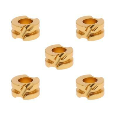 "5Pcs Archery Aluminium Peep Sight for Compound Bow Hunting 3/16"" Gold"