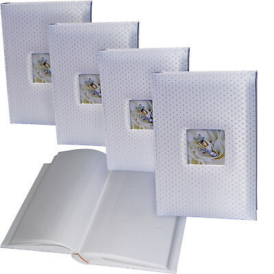 3 x White Diamond wedding 6x4 slip-in 300 photo albums * THREE PACK