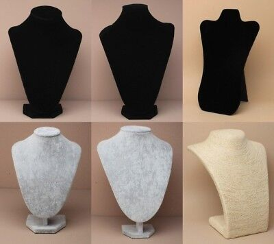 Free Standing Jewellery Bust, Display Stand, Shop, Photography, Velvet, String
