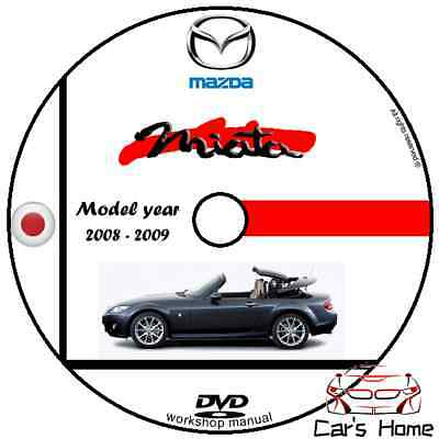 MANUALE OFFICINA MAZDA MIATA my 2008 - 2009 WORKSHOP MANUAL DVD