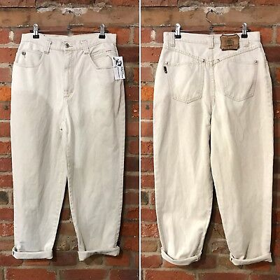 VINTAGE MOM JEANS HIGH WAISTED TAPERED 90s STONE (J85) W29 L28 SIZE 10