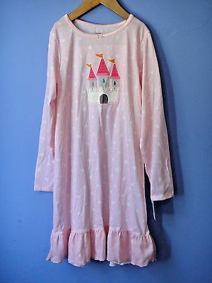 Carter's Girls Pink Pollkadot Castle Nightgown Pajama L 8 10 NEW NWT