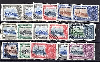KGV 1935 Silver Jubilee Collection Fine USed X7909