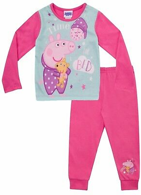 Girls Peppa Pig Time For Bed Pyjamas - Ages 1 - 5 Years - Kids PJ Sets