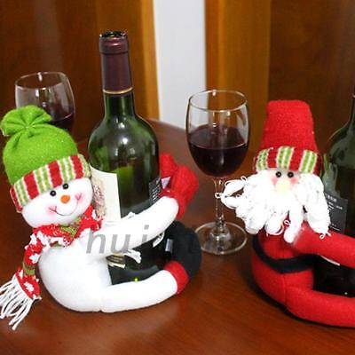 Wine Bottle Cover Snowman Toy Holder For Christmas Xmas Dinner Party Table Decor