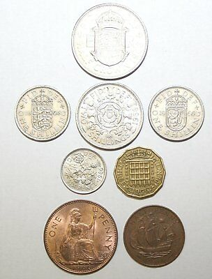 1953 to 1967 Elizabeth II Complete British Coin Year Sets