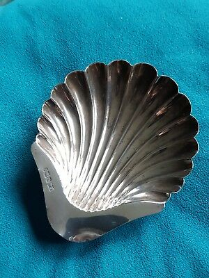 Vintage Silver Scallop Shell Ashtray