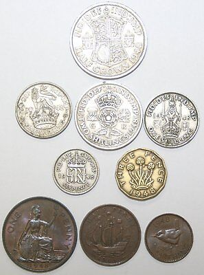 1947 & 1948 George VI Complete British Coin Year Sets