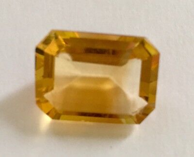 Citrine Gemstone Rectangle Cut 15x12mm. Natural Citrine. Loose Gemstone.