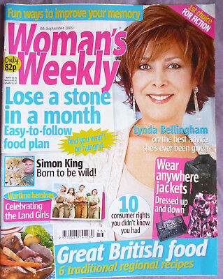 woman's weekly magazine:  2009 Pauline Quirk, Simon King, Lynda Bellingham