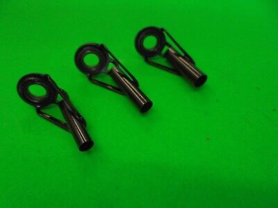 Tip eyes for fishing rods 1x 3.0mm,1 x 3.5mm, x 4mm bore ideal for spinning rods