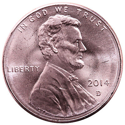 2014 D Lincoln Shield Cent Choice BU Penny US Coin